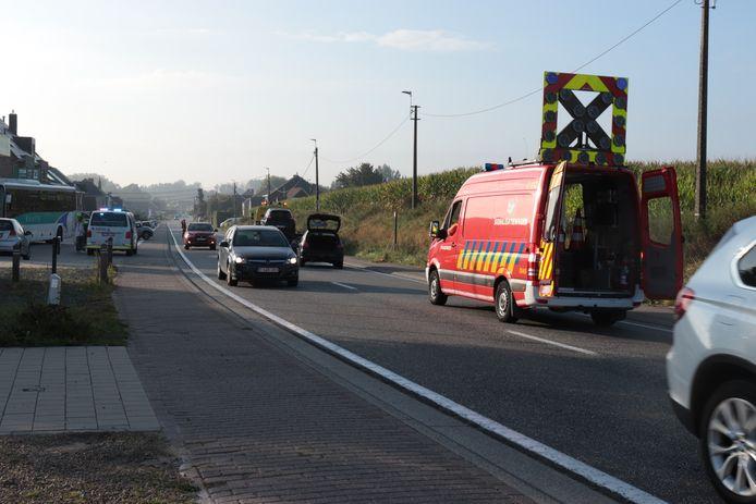 Door het ongeval was de rijstrook richting Vijfhuizen een tijd versperd.