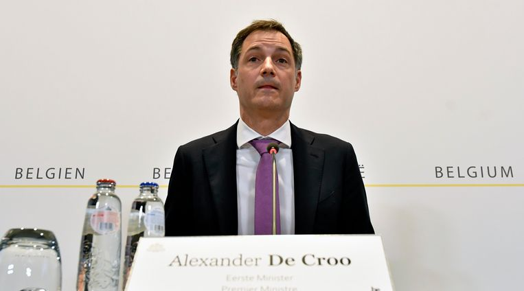 Premier Alexander De Croo (Open Vld) Beeld Photo News