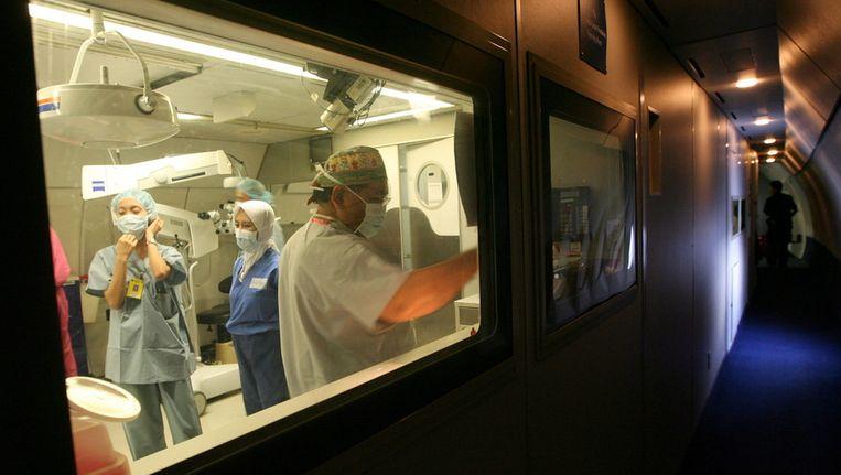 Ziekenhuispersoneel in in het Orbis Medisch Centrum in Sittard-Geleen. © ANP Beeld