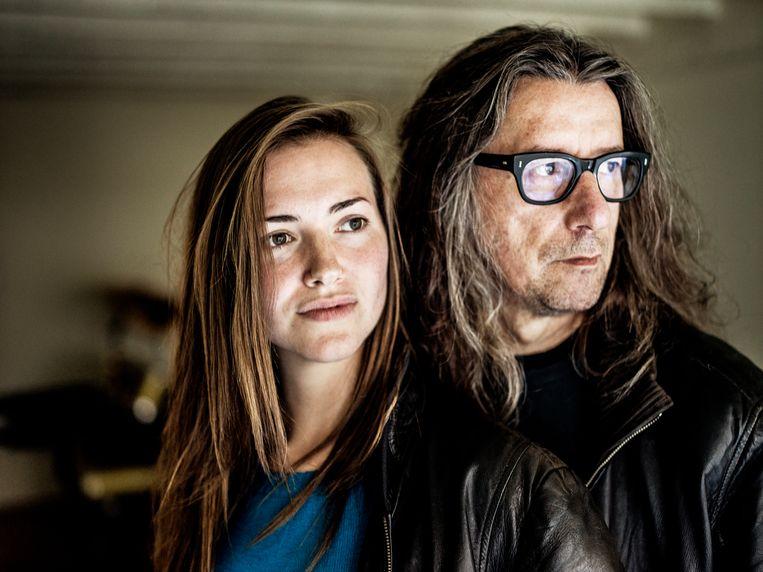 Herman Brusselmans (61) en Lena (27).  Beeld Johan Jacobs