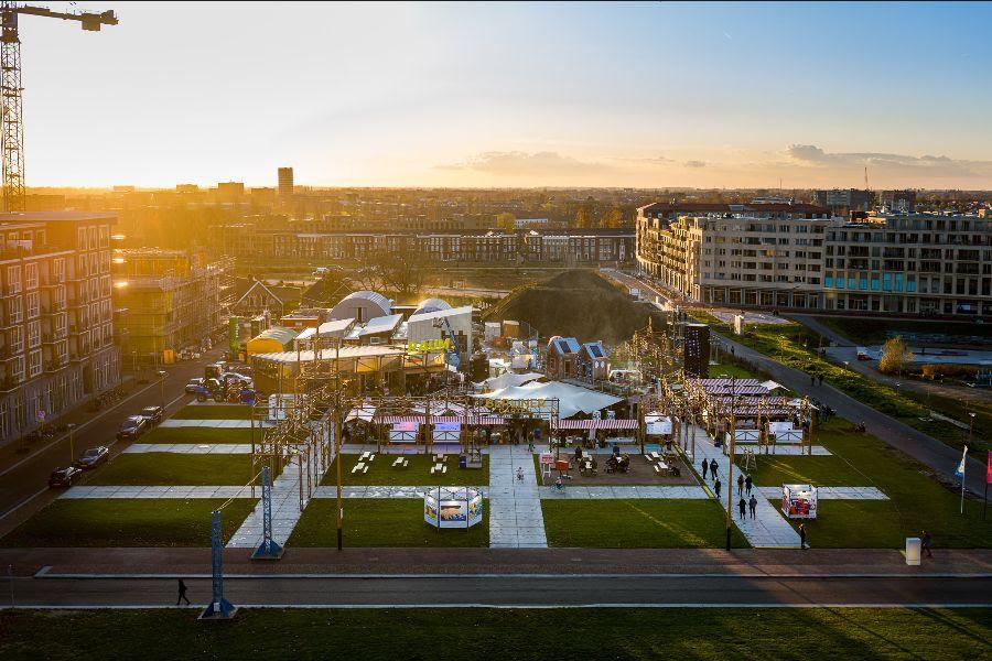 Het Berlijnplein verandert deze zomer in Stadscamping RAUM.
