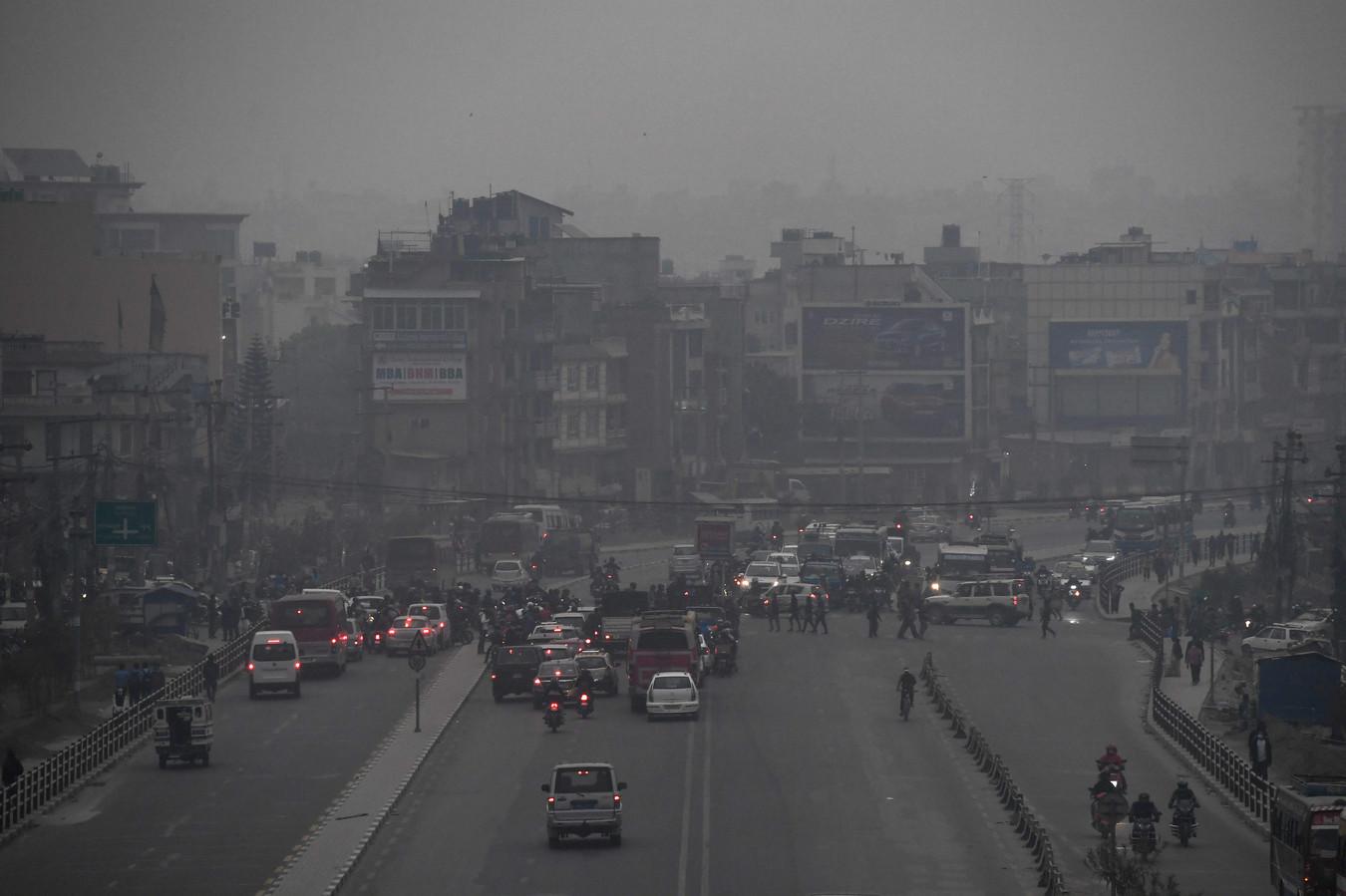 Katmandou sous la pollution, ce lundi 29 mars.