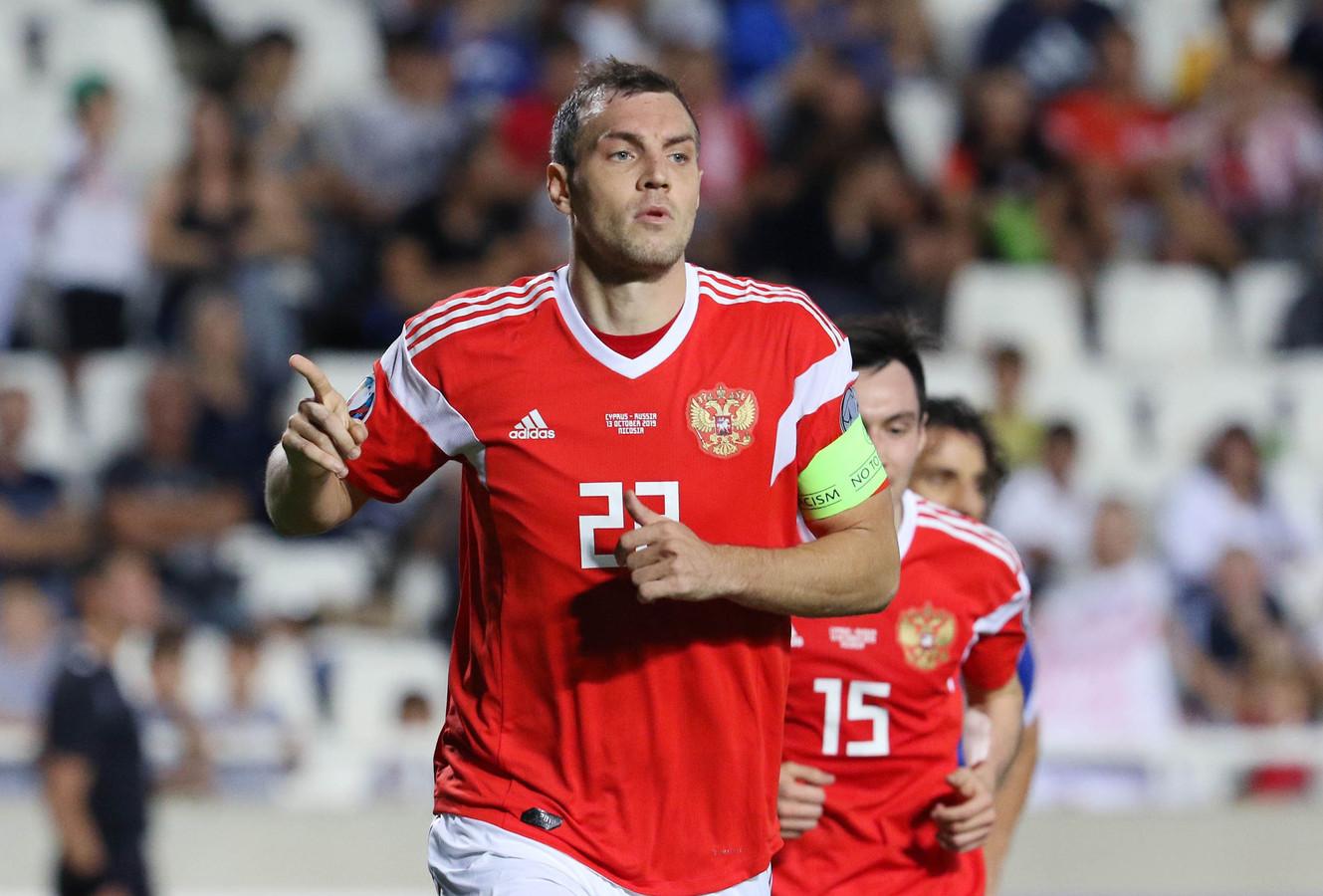 Artem Dzyuba weer trefzeker voor Rusland.