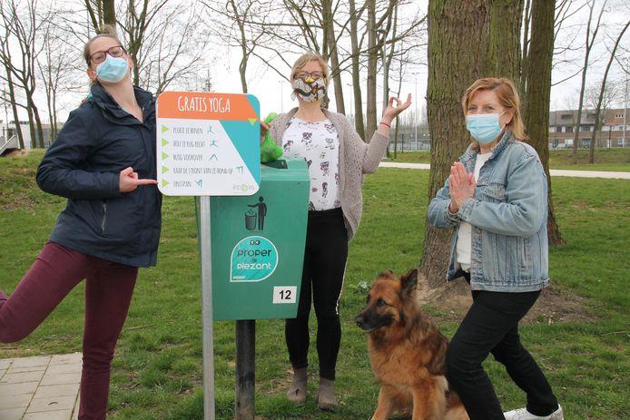Gemeente Machelen-Diegem en Incovo stellen bord met Yoga oefeningen voor om hondenpoep op te ruimen