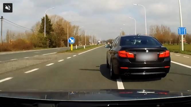 Verkeersagressie vastgelegd op beeld: BMW snijdt de pas af en gaat dan vol op de rem