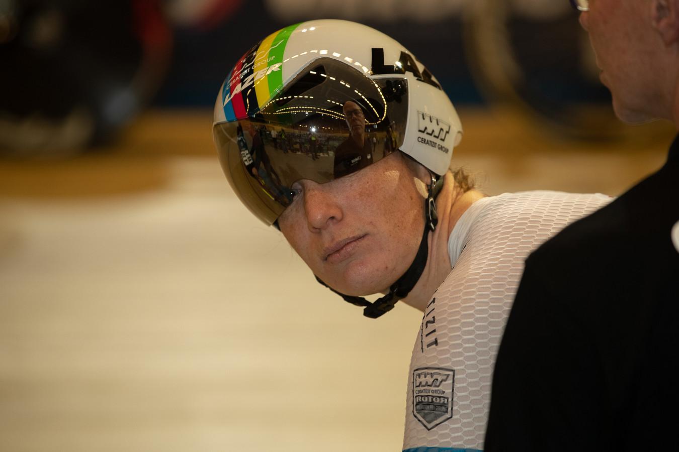 Kirsten Wild moest flink wat geven voor de nationale titel in het omnium.