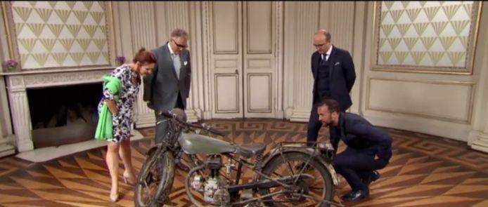 De motorfiets van Kuifje