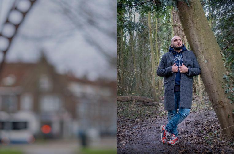 Massih Hutak: 'Overal worden kansarme bewoners - een vreselijke term - uit steden 'verjaagd'. Dat is doelbewust beleid, een neoliberale tornado.' Beeld Patrick Post
