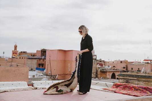 Traditioneel geknoopte, unieke tapijten uit Marokko.