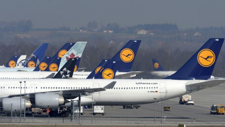 Lufthansa onderuit op beurs na vliegtuigramp. Beeld anp