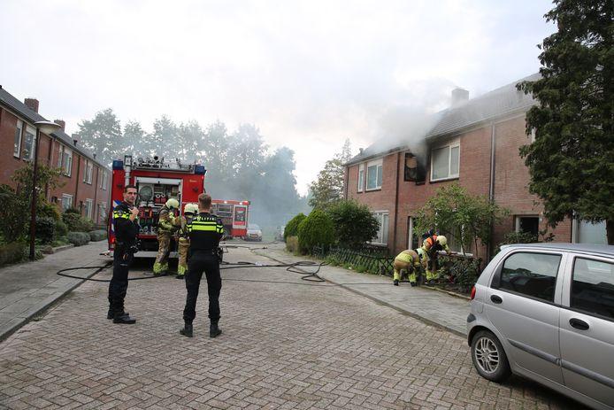 Woningbrand in de Strijmondlaan in Oudenbosch.