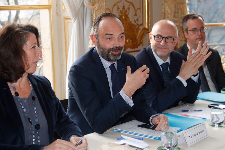 De Franse premier Edouard Philippe. Beeld EPA