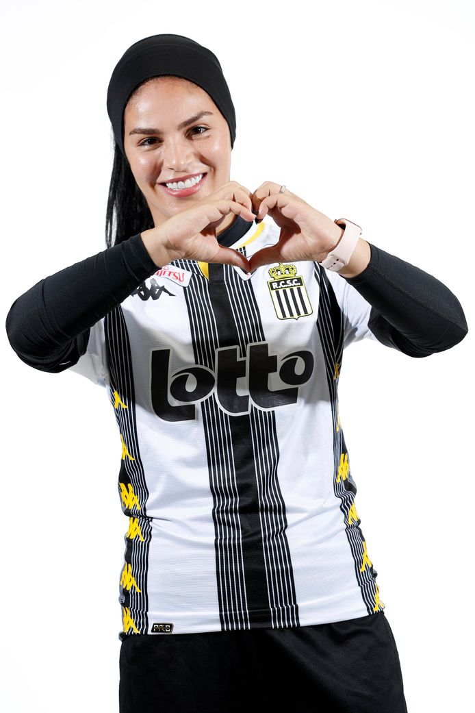 Yasaman Farmani de l'équipe féminine du Sporting de Charleroi