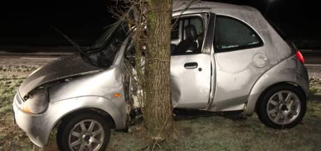 Automobilist gewond na botsing tegen boom in Markelo