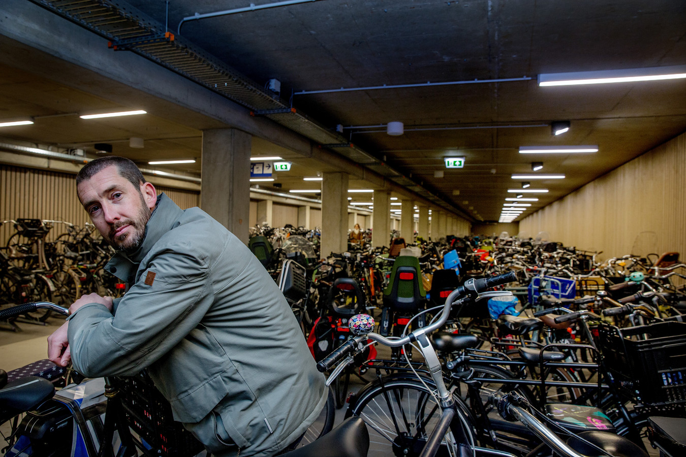 Wouter van Minderhout, programmamanager fietsparkeren bij ProRail.