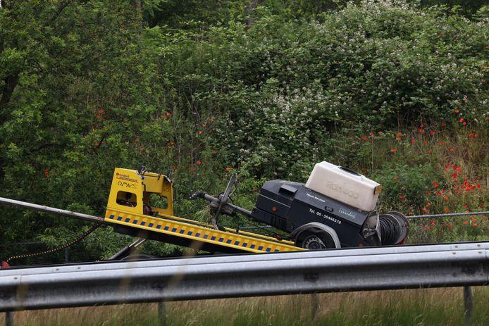 Ongeluk op de snelweg bij Oirschot.