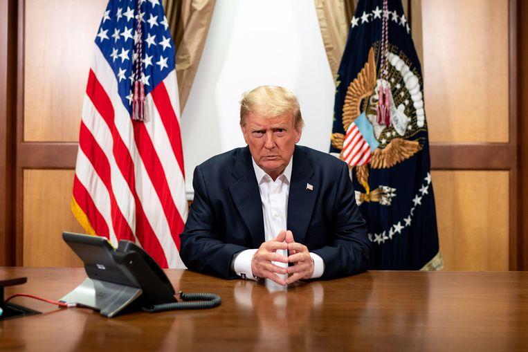 Trump verspreidde een nieuwe video om zijn toestand te bespreken. Beeld EPA