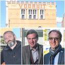 Poplife-organisator Olivier Tjon, burgemeester Mathias De Clercq en rector Rik Van de Walle