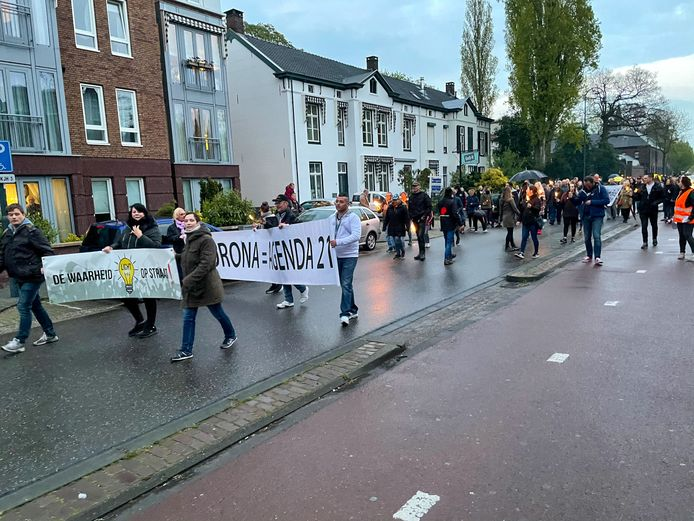 De demonstranten in Helmond.
