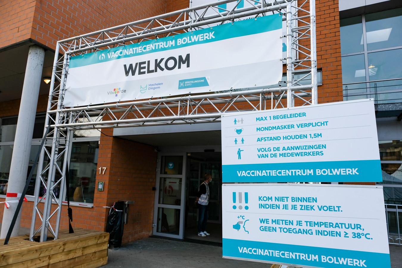 Vaccinatiecentrum Bolwerk in Vilvoorde.