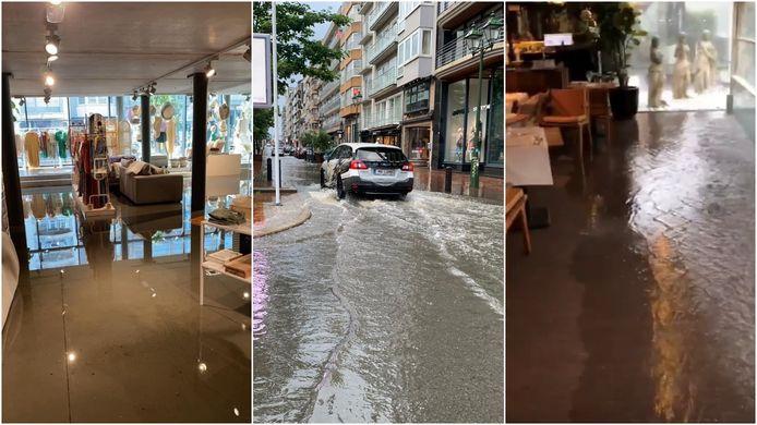 Op verschillende plaatsen in Knokke-Heist was er wateroverlast