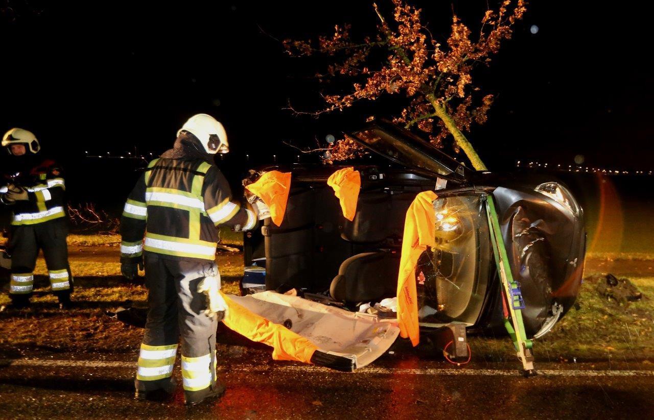 Eenzijdig ongeluk in Berlicum.