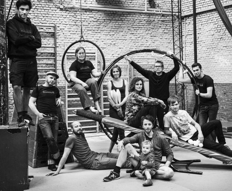 De Antwerpse circusschool Ell Circo d'Ell Fuego. Beeld rv