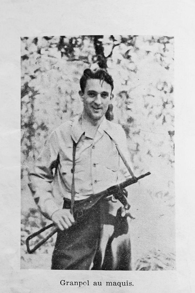 Monsieur Granpol, als verzetsstrijder. Beeld Photo News