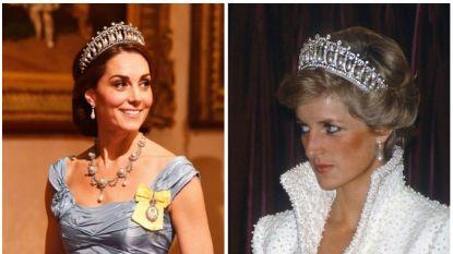 Kate Middleton schittert in de favoriete tiara van Diana