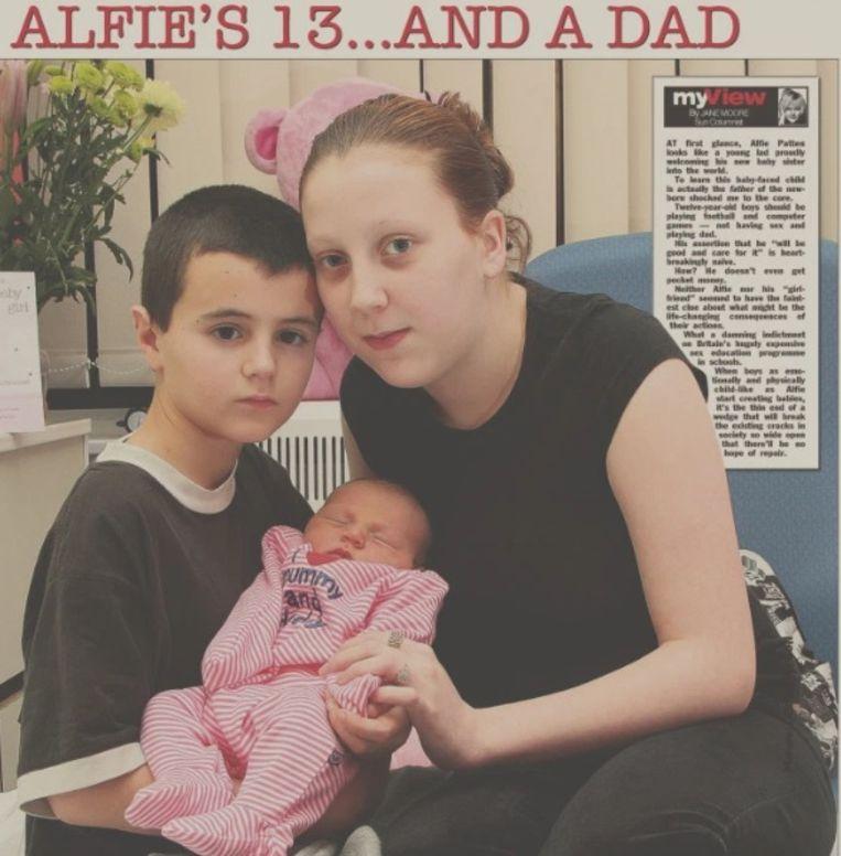 Alfie Patten als jongste vader van het Verenigd Koninkrijk.
