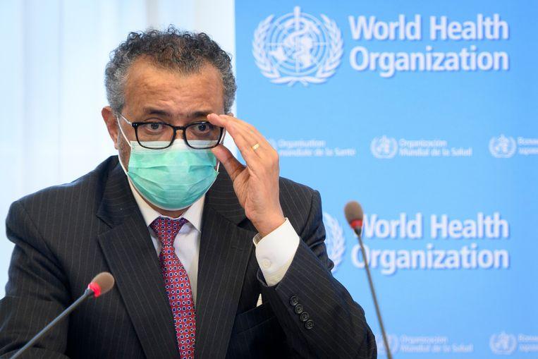 WHO-directeur Tedros Adhanom Ghebreyesus. Beeld AP