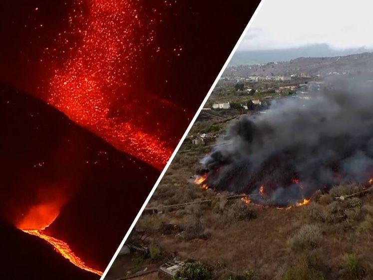 Lava op vakantie-eiland La Palma nadert de zee: mogelijk explosies