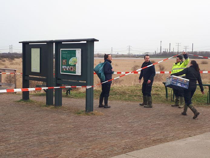 Het gebied bij het Groene Strand is afgezet voor uitgebreid politieonderzoek.