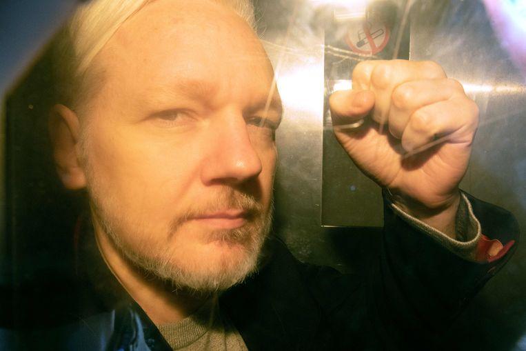 Julian Assange (archiefbeeld) Beeld AFP