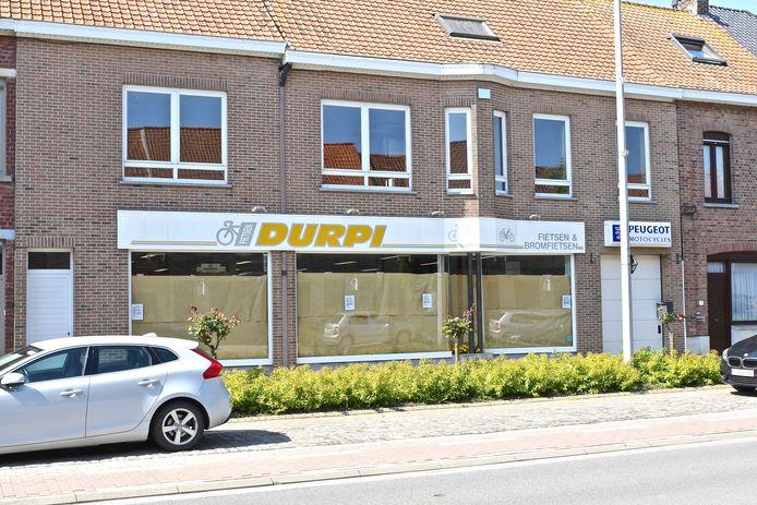 Durpi in de Menenstraat verkocht fietsen, bromfietsen en grasmachines