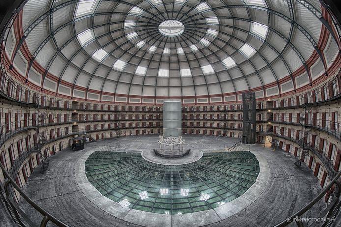De koepelgevangenis in Breda, waar het spel Prison Escape zich normaal gesproken met meer dan honderd man afspeelt.