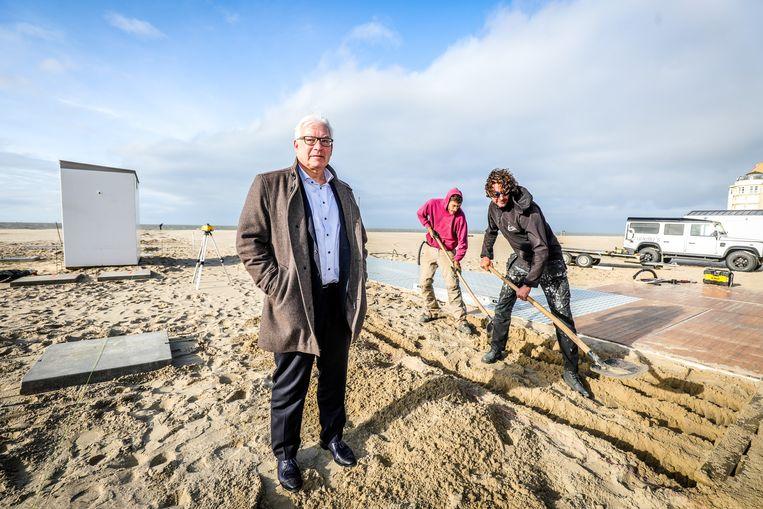 Burgemeester Piet De Groote (Gemeentebelangen) van Knokke-Heist. Beeld Benny Proot