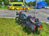 Motorrijder onderuit op rotonde in Eersel