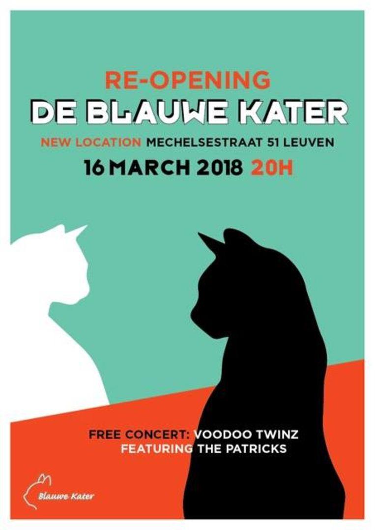 Re-Opening Blauwe Kater Beeld RV