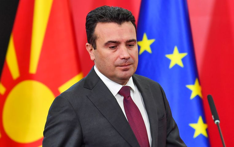 De Noord-Macedonische minister-president Zoran Saev wil graag zijn land laten toetreden tot de EU. Beeld EPA