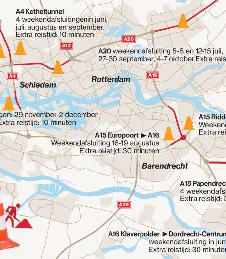 Files vaker buiten spits en op onverwachte plekken in regio Rijnmond