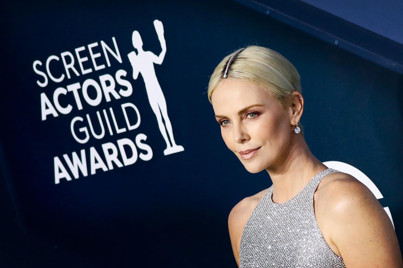 Charlize Theron op de Screen Actors Guild Awards. Beeld EPA