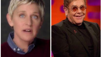 """Ellen Degeneres is boos op Elton John: """"Hij nam me niet serieus toen ik uit de kast kwam"""""""