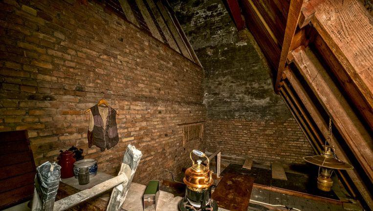 De onderduikzolder van de Breepleinkerk in Rotterdam. Beeld null