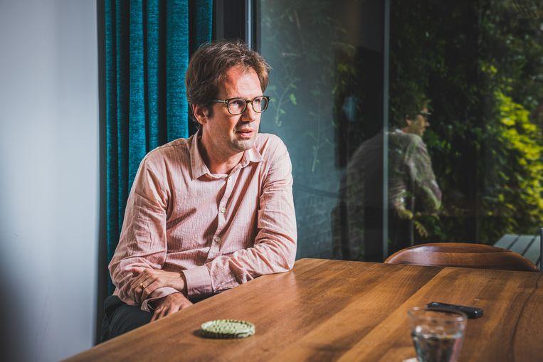 Advocaat Joris Van Cauter, die een van de Reuzegommers verdedigt. Beeld Wannes Nimmegeers