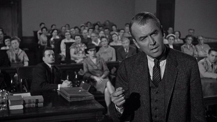 James Stewart in Anatomy of a Murder van Otto Preminger. Beeld