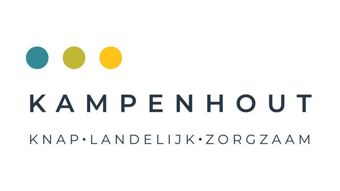 Het nieuw logo van de gemeente Kampenhout die zich een nieuwe huisstijl aanmat.