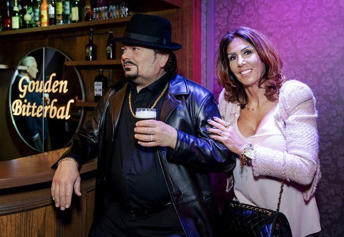 Rachel Hazes tijdens de onthulling van het wassen beeld van André Hazes in Madame Tussauds, op 8 oktober vorig jaar.
