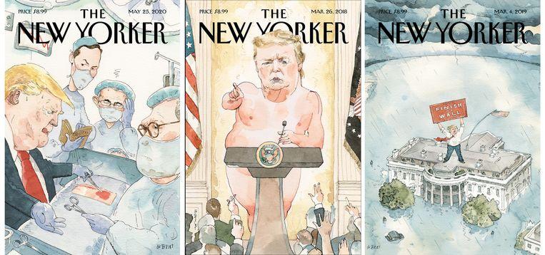 Barry Blitt beeldt president Trump af zonder daarbij woorden te gebruiken. Beeld Barry Blitt / The New Yorker