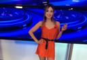 Presentatrice Noelia Novillo van de Argentijnse nieuwszender Canal 26.